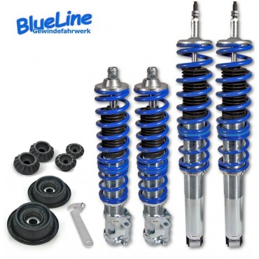 JOM blue line coil over kit domcap set included, vor VW Golf 3 /Vento 09.94-09.97 (1HXO), Golf 3 cabrio 07.93-05.98, thread/thread VW Golf III/ Vento 09.94 - 09.97 (1HXO), Golf III Cabrio 07.93 - 05.98 (1EXO), VR6, ohne 4 x 4/Variant, Gewinde/Gewinde, ink