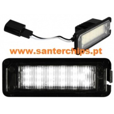 Leds Matricula VW Golf4, Golf5, EOS, LUPO, NEW BETTLE, PASSAT CC, POLO, Leon 1P